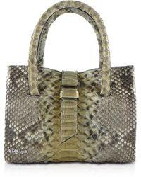 Ghibli - Python Leather Mini Tote Bag - Lyst