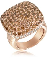Azhar - Cubic Zirconia Sterling Silver Square Cocktail Ring - Lyst