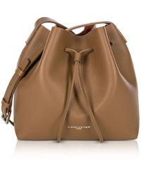 Lancaster - Pur and Element Foulonné Camel/Pumpkin Small Bucket Bag - Lyst