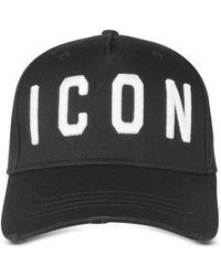 DSquared² - Icon Cotton Baseball Cap - Lyst
