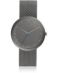 Fossil - The Essentialist Three Hand Grey Stainless Steel Men's Watch - Lyst