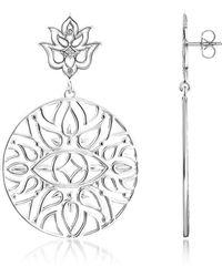 Thomas Sabo - 925 Sterling Silver Earrings W/white Diamond - Lyst