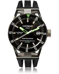 LOCMAN Montecristo Black PVD Stainless Steel & Titanium Chronograph Men's Watch - Schwarz