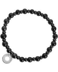 Antica Murrina - Perleadi Dark Gray Murano Glass Beads Bracelet - Lyst