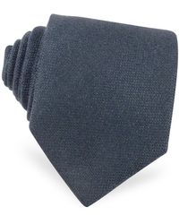 FORZIERI Cravatta in Cachemire Azzurro - Blu
