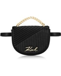 Karl Lagerfeld - K/signature Quilted Belt Bag - Lyst