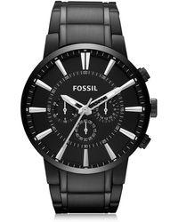 Fossil Others Chronograph Herrenuhr aus Edelstahl in schwarz