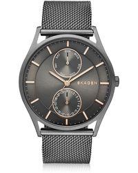 Skagen - Holst Grey Stainless Steel Men's Watch W/mesh Band - Lyst