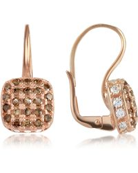 Azhar   Cubic Zirconia And Sterling Silver Square Earrings   Lyst
