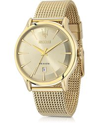 Maserati - Epoca Gold Tone Stainless Steel Men's Watch - Lyst