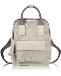 Alviero Martini 1A Classe - Free Spirit Softy Ash Grey Fabric And Leather Backpack - Lyst