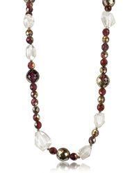 AZ Collection - Beaded Chain Necklace - Lyst