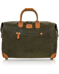 Bric's - Life - Olive Green Micro Suede 18'' Carry-on Holdall - Lyst