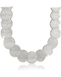 Rebecca R-zero Rhodium Over Bronze Necklace - Metallic