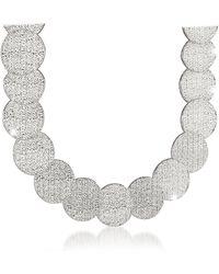 Rebecca - R-ZERO Rhodium Over Bronze Necklace - Lyst