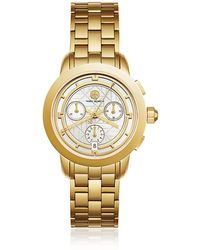 Tory Burch - Tbw1032 The Tory Gold Tone Chronograph Women's Watch - Lyst