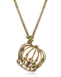Alcozer & J - Golden Brass Little Goddess Necklace - Lyst