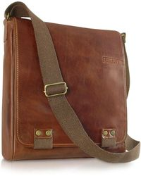 Chiarugi - Handmade Brown Genuine Leather Crossbody Bag - Lyst
