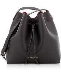 Lancaster Pur & Element Saffiano Small Two Tone Bucket Bag - Black