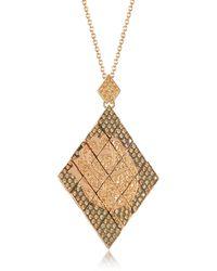 Azhar Rosa Silver And Zircon Pendant Necklace - Metallic