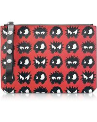 McQ Classic Red Knit Monster Tablet Pouch