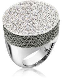 Azhar Cubic Zirconia And Zircon Cocktail Ring - Metallic