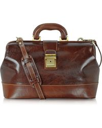 Chiarugi Doctor Bag in Pelle Fatta a Mano - Marrone