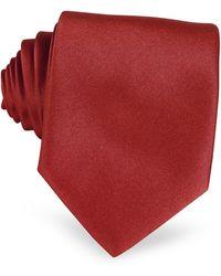 FORZIERI Einfarbige extra-lange Krawatte in Rot