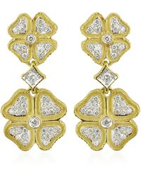 Torrini - Quadrifoglio Diamond Four-leaf Clover 18k Gold Earrings - Lyst