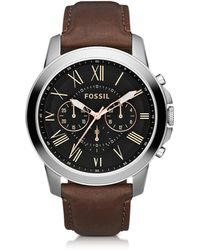 Fossil - Grant Chronograph Leather Men's Watch - Lyst