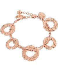 Rebecca - R-zero Rose Gold Over Bronze Bracelet - Lyst