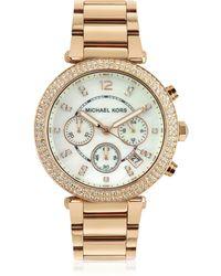 Michael Kors - Glitz-top Chronograph Watch - Lyst