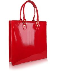 L.A.P.A. - Ruby Red Patent Leather Tote Bag - Lyst