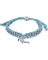 Sho London Manatee Friendship Silk Bracelet - Blue