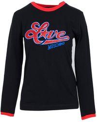 Love Moschino Black Cotton Women's Long Sleeve T-shirt