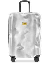 Crash Baggage Stripe Medium Trolley - Blanco