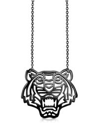KENZO - Sterling Silver Cut Out Tiger Necklace - Lyst