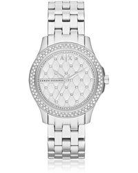 Armani Exchange - Lady Hampton Stainless Steel Women's Watch - Lyst