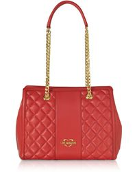 Love Moschino - Quilted Eco Leather Shoulder Bag - Lyst