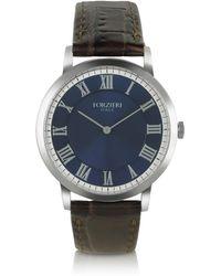 Forzieri | Donatello - Slim Brown Leather Watch | Lyst