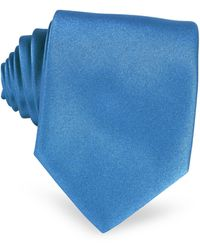 FORZIERI Einfarbige extra-lange Krawatte in Blau