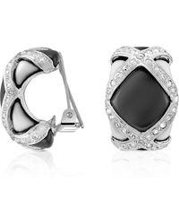 AZ Collection - Black & White Clip On Earrings - Lyst