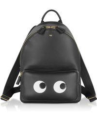 Anya Hindmarch Black Circus Mini Eyes Backpack
