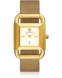 Tory Burch TBW7250 The Phipps Gold Tone Mesh Women's Watch - Métallisé