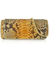 Ghibli Python Leather Mini Shoulder Bag - Yellow