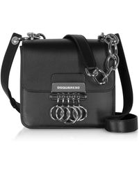 DSquared² Black Leather Key Crossbody Bag