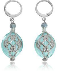 Antica Murrina - Florinda Light Blue Murano Glass Earrings - Lyst
