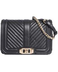 Rebecca Minkoff Small Chevron Quilted Bag - Black