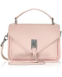 Rebecca Minkoff Leather Mini Darren Messenger Bag - Pink
