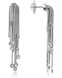 Orlando Orlandini | Flirt - Diamond Drops 18k White Gold Earrings | Lyst